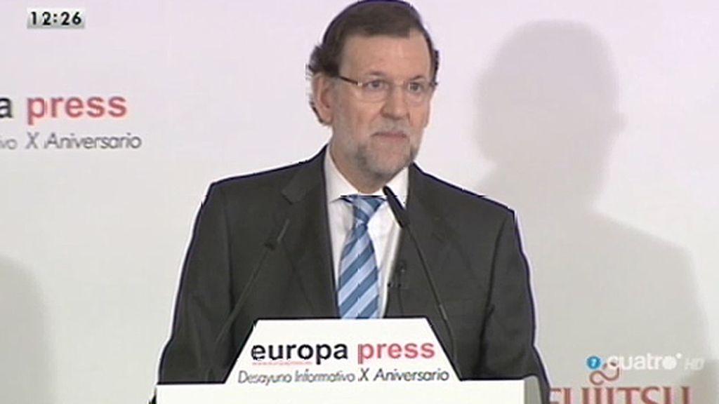 """Rajoy: """"Cada vez más españoles perciben en su vida cotidiana el cambio de rumbo"""""""
