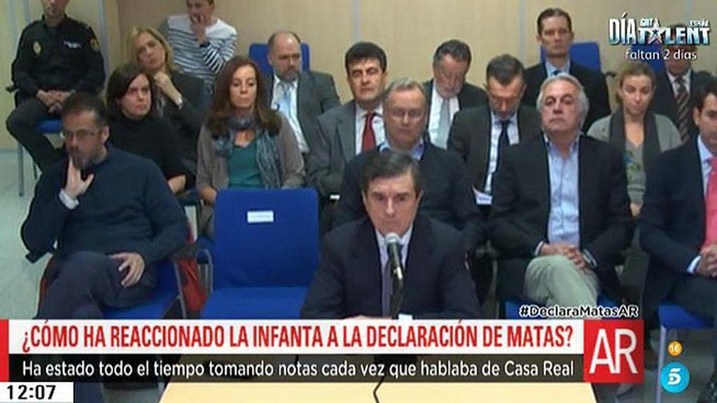 ¿Cómo han reaccionado la Infanta y Urdangarin ante las declaraciones de Matas?
