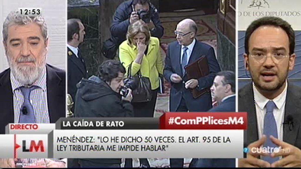 """Antonio Hernando: """"No hay un derecho al anonimato de los defraudadores"""""""