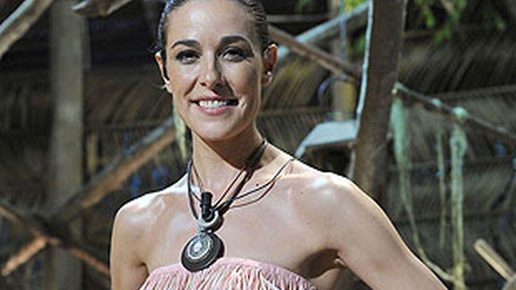 Raquel S.Silva, presentadora de 'SV' desde la isla.