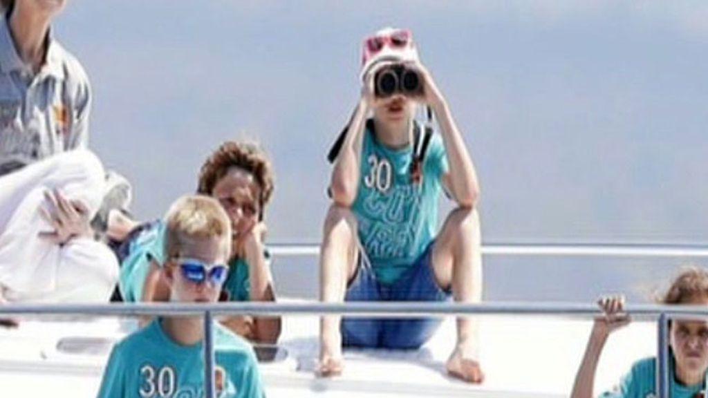 Letizia llega a mallorca con sus hijas