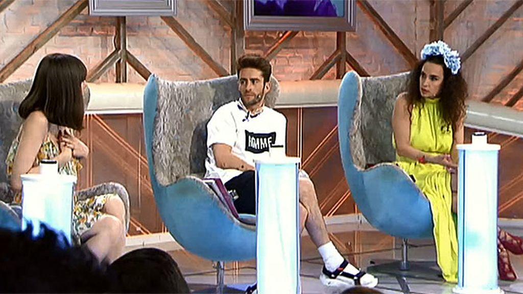 Natalia se pone un poco a la defensiva con Pelayo y Cristina por un comentario