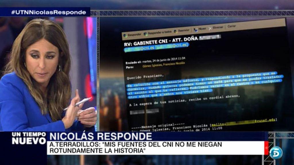 Francisco Nicolás demuestra a través de un correo su relación con el CNI
