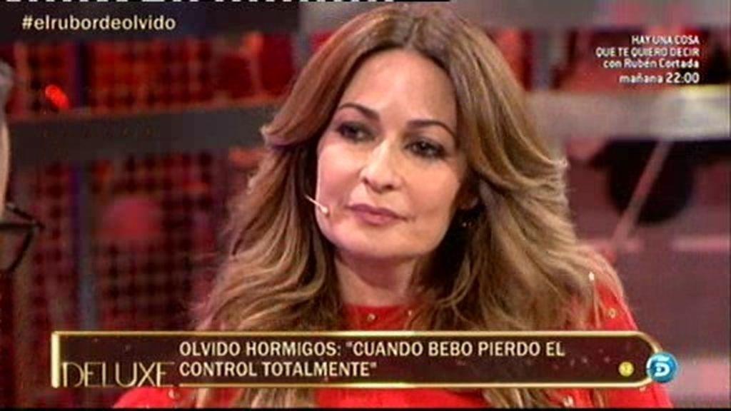 """Olvido Hormigos se sincera en el 'Deluxe': """"Cuando bebo pierdo el control"""""""