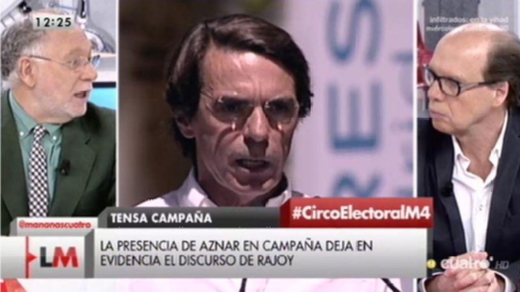 """Ekaizer, de Aznar: """"Ha dicho en la intimidad que Ana Botella renuncia a ser candidata porque Rajoy no se lo merece"""""""