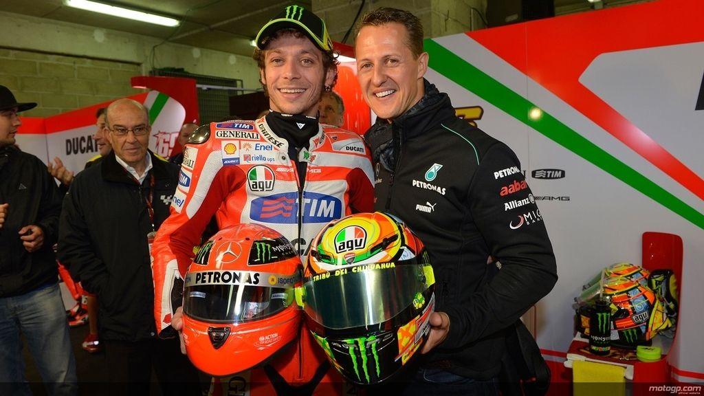Michael Schumacher y Valentino Rossi, los dos pilotos más laureados del mundo del motor