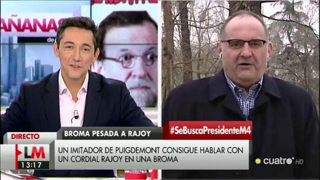 """A. Losada, irónico: """"Por lo que se ve, me cuesta más trabajo localizar a mi hija en el móvil que hablar con Rajoy"""""""