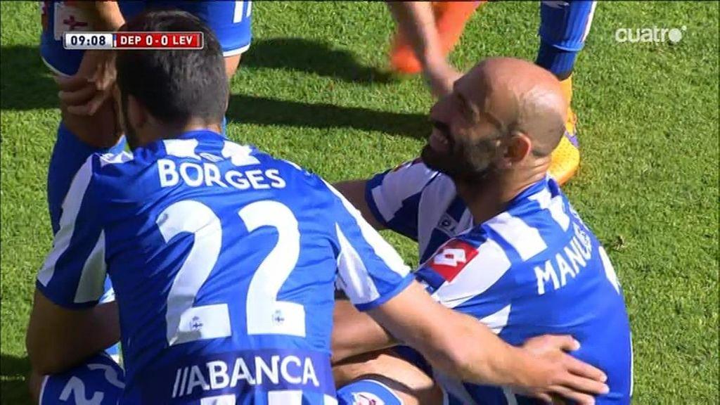 Manuel Pablo se retira lesionado en el que podría ser su último partido con el Depor