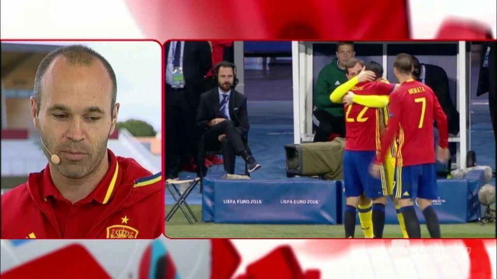 """Iniesta sobre la suplencia de Casillas: """"Es un líder y un privilegio tenerlo en el equipo"""""""