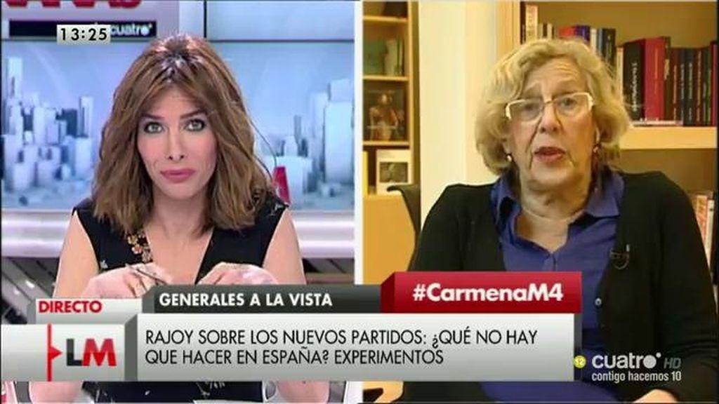 La entrevista a Manuela Carmena, a la carta