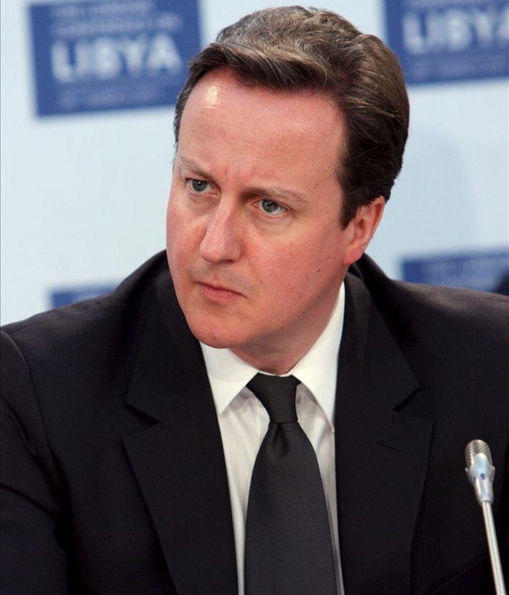 Fotografía cedida por el Ministerio británico de Asuntos Exteriores del primer ministro británico, David Cameron. EFE/Archivo