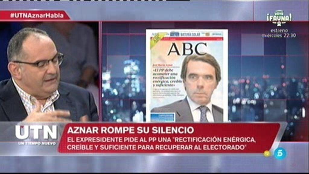 """Antón Losada: """"Las declaraciones de Aznar son un ajuste de cuentas con el PP"""""""
