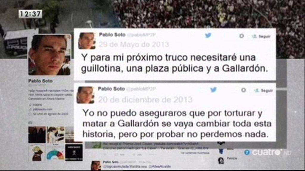 Pablo Soto, concejal de Ahora Madrid, denunciado por tuitear que la guillotina y Gallardón no hacían mala pareja