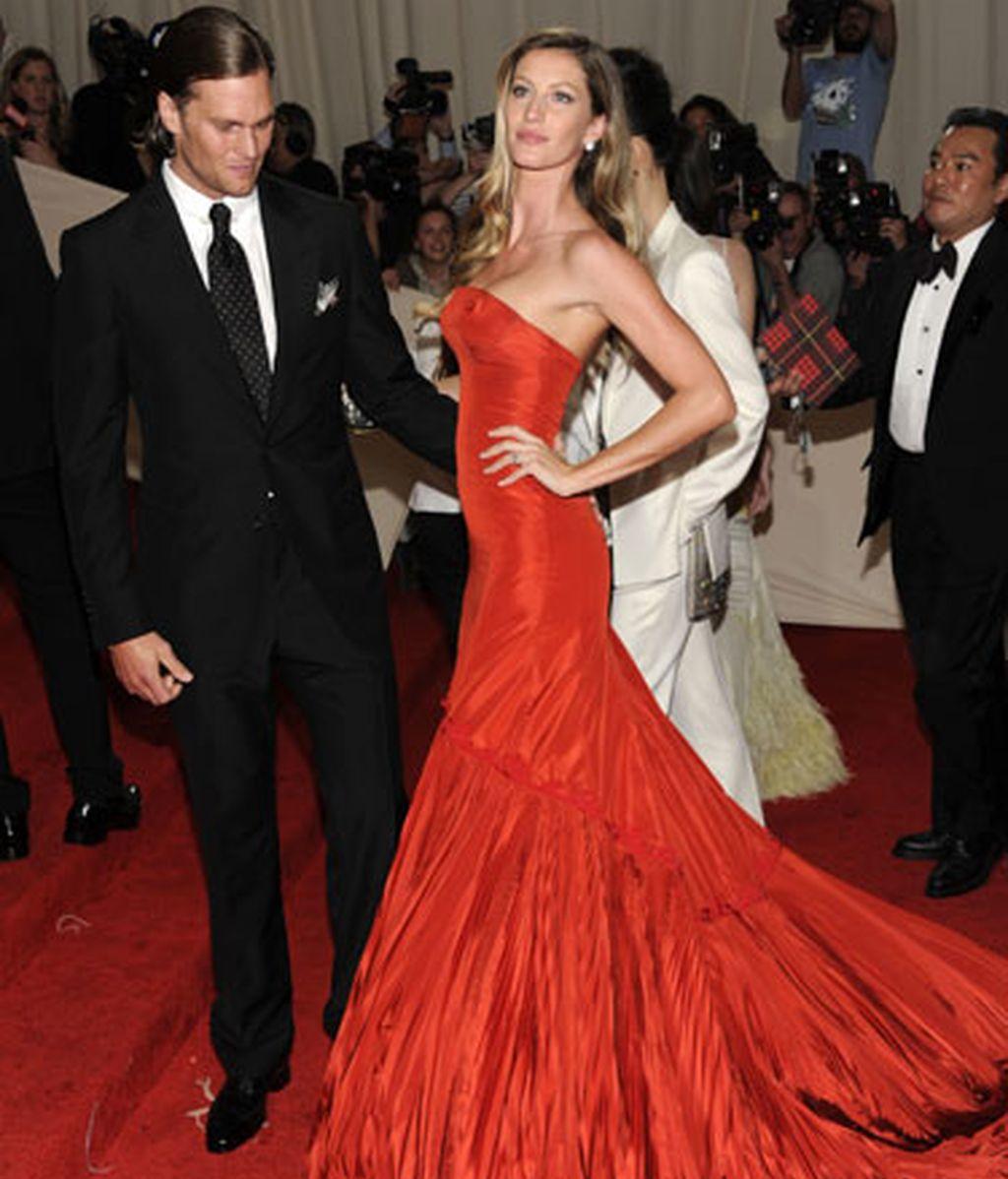 Gisele Bundchen y su marido Tom Brady