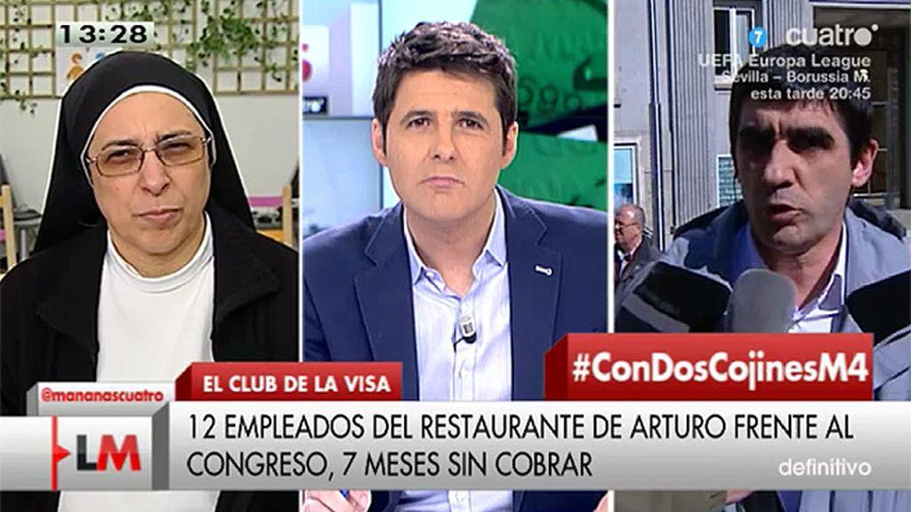 Un trabajador de un restaurante de Arturo Fernández reclama que le debe 7 meses
