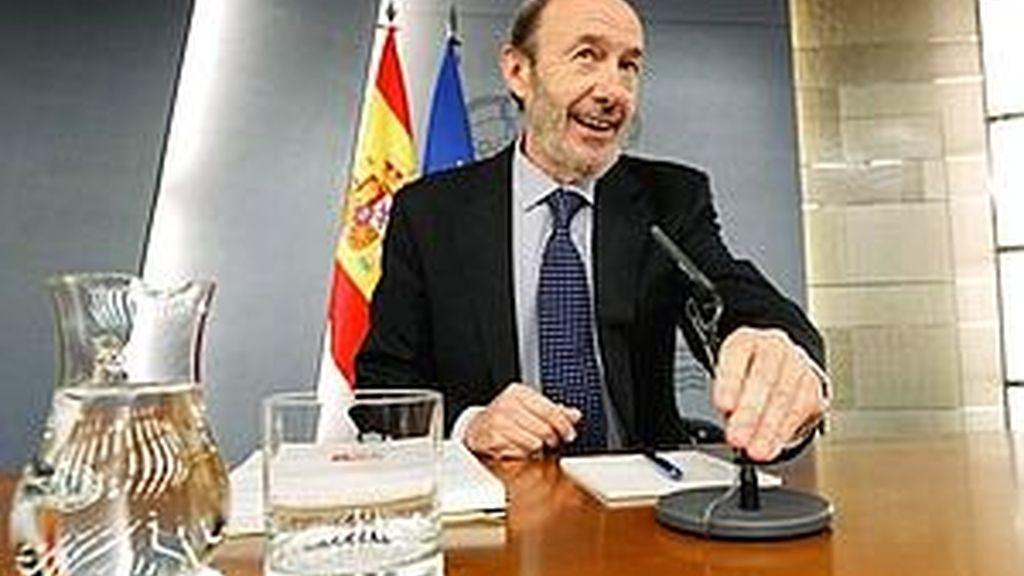 El vicepresidente primero del Gobierno y ministro del Interior, Alfredo Pérez Rubalcaba. Foto: EFE.