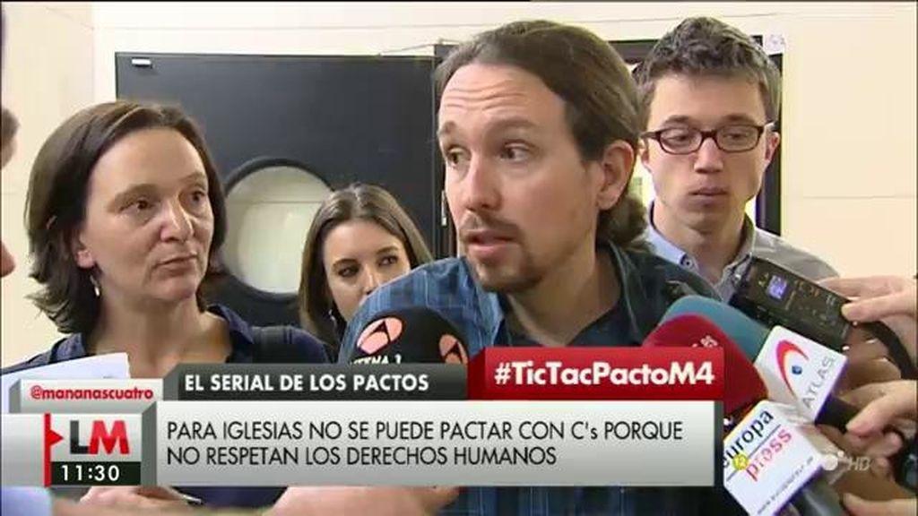 """P. Iglesias, de C's: """"Les pediré que se relajen un poquito y que entiendan que, a lo mejor, lo mejor para España es que se abstengan"""""""