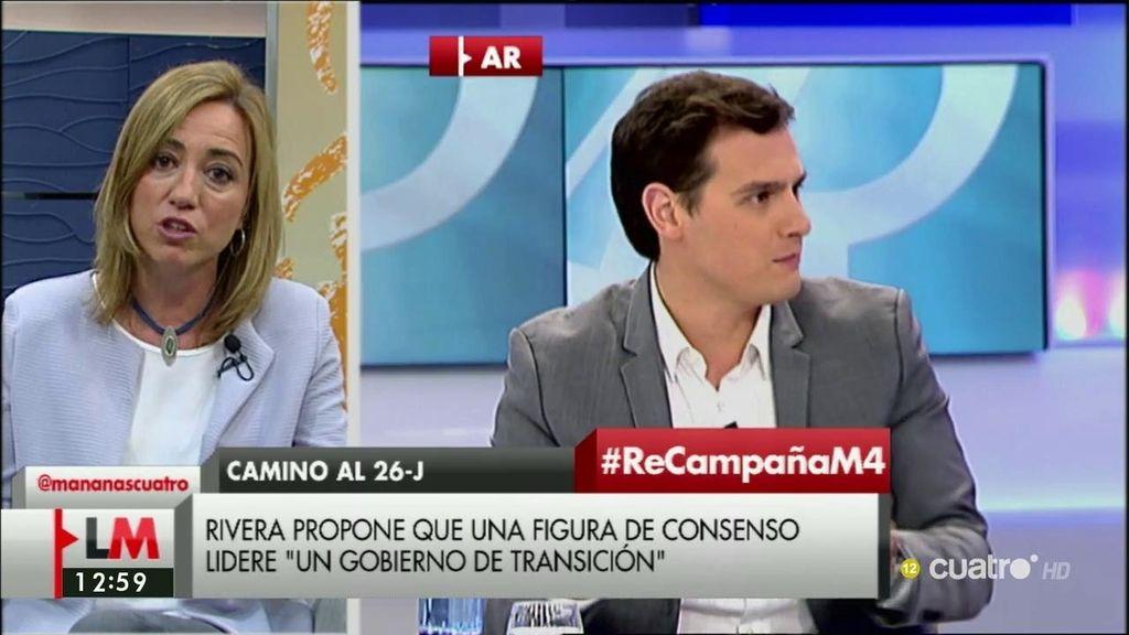 """C. Chacón: """"No sé si el señor Rivera ha tirado la toalla, espero que no, yo no la voy a tirar"""""""