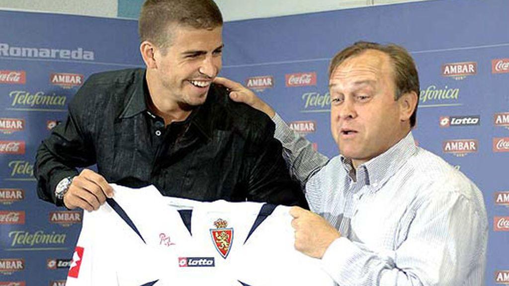 2006: Piqué jugó cedido un año en Real Zaragoza