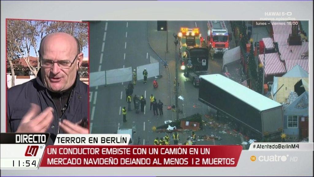 """Gil Garre, sobre el atentado de Berlín: """"Este tipo de ataques son muy difíciles de detectar"""""""