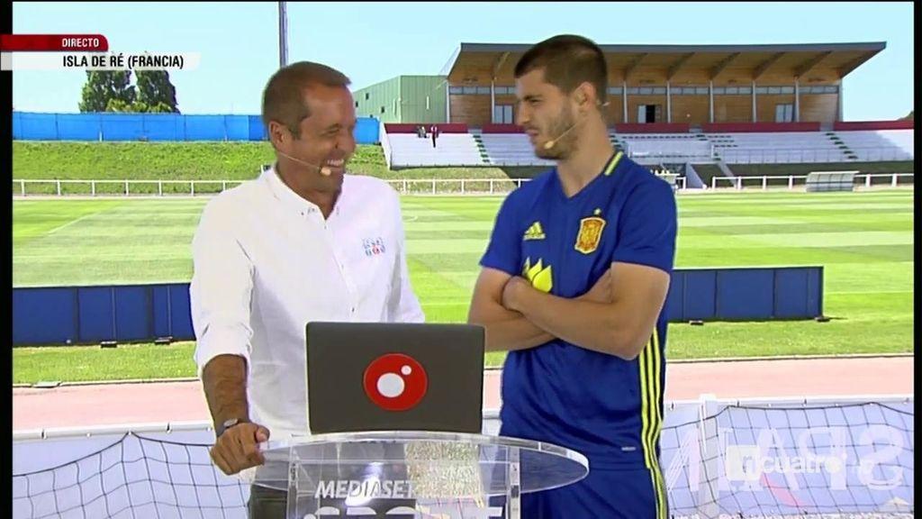 """Morata cuenta su anécdota con el tempranero control antidoping: """"Esto es una broma"""""""