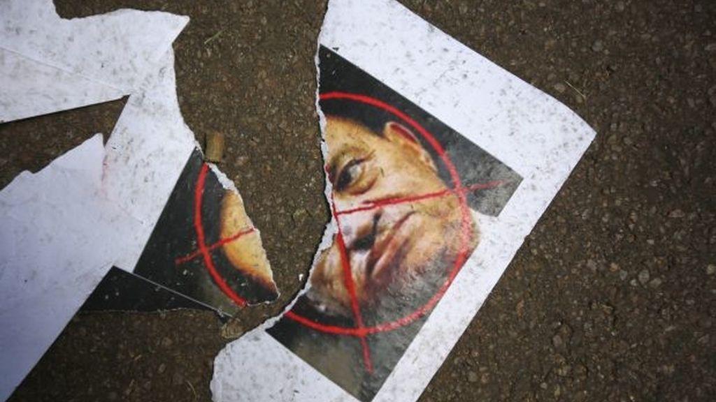 Mubarak, por los suelos