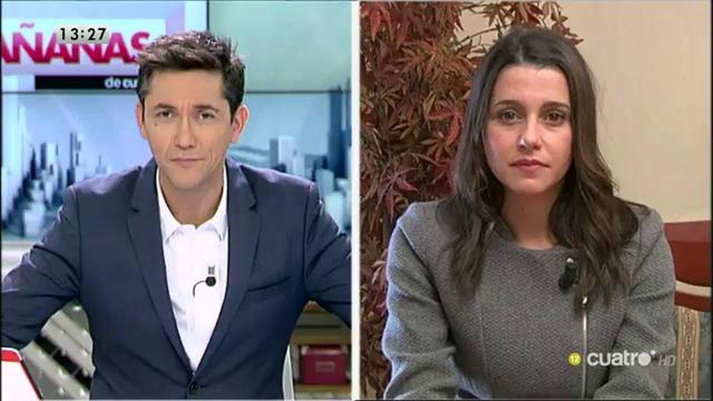 """Inés Arrimadas: """"Niego que con un gobierno de Ciudadanos los maltratadores vayan a tener menor rechazo penal o social"""""""