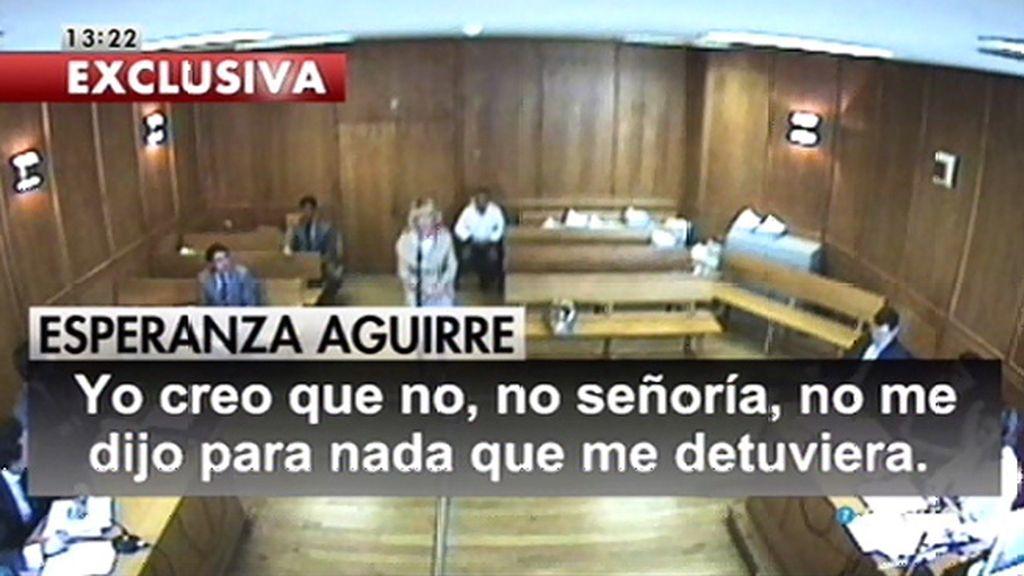 Lo que Aguirre dijo en la vista