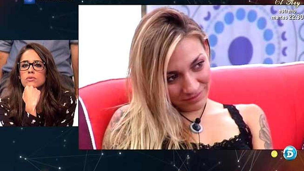 """Lucía, desde el plató: """"No me hace gracia el acercamiento entre Omar y Paula"""""""