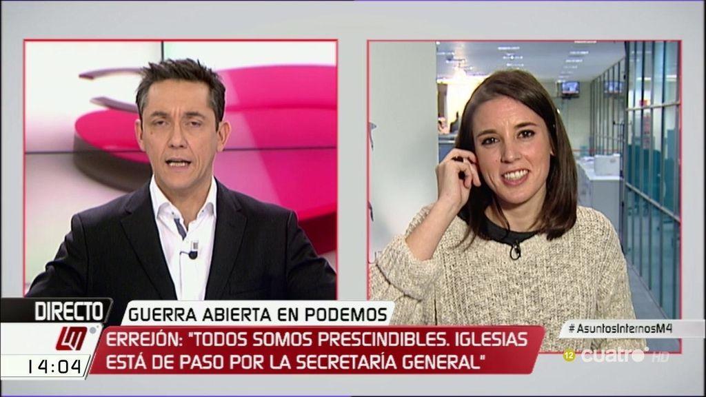 """La """"fábrica de amor"""" de Irene Montero: """"Pablo Iglesias estaría encantado de ser relevado"""""""