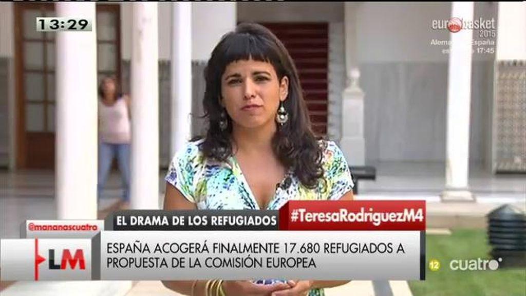 """Teresa Rodríguez, sobre la crisis de los refugiados: """"Ante reacción de la ciudadanía, el gobierno da marcha atrás"""""""