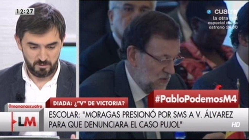 """I. Escolar: """"El jefe de gabinete de Rajoy presionó por SMS a la ex de Pujol Jr."""""""