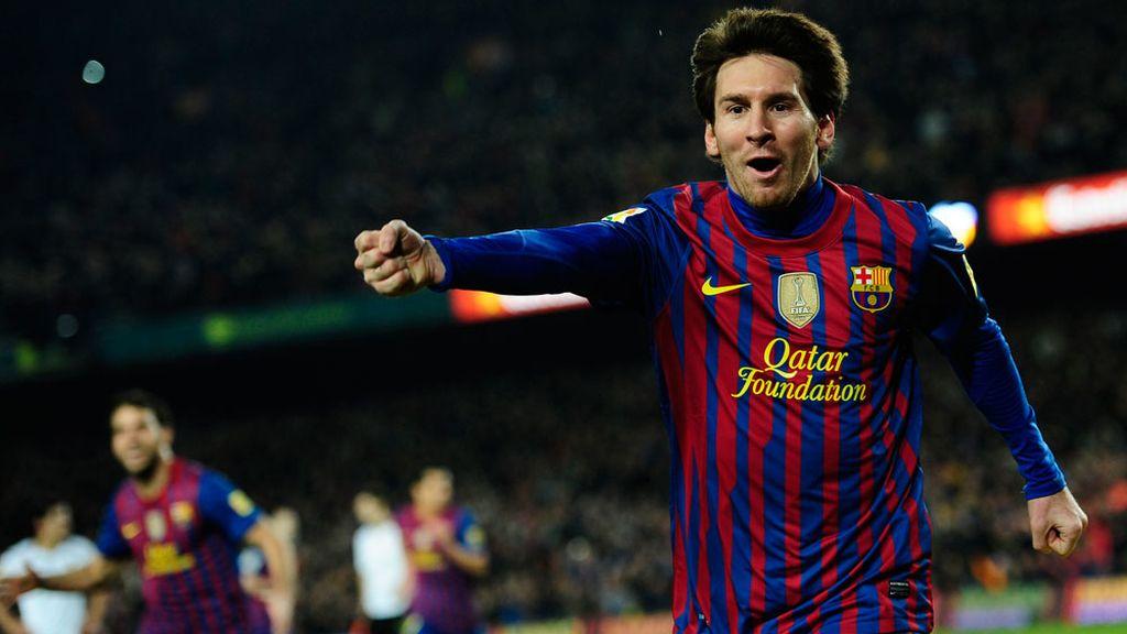 Leo Messi celebra un gol en el Camp Nou
