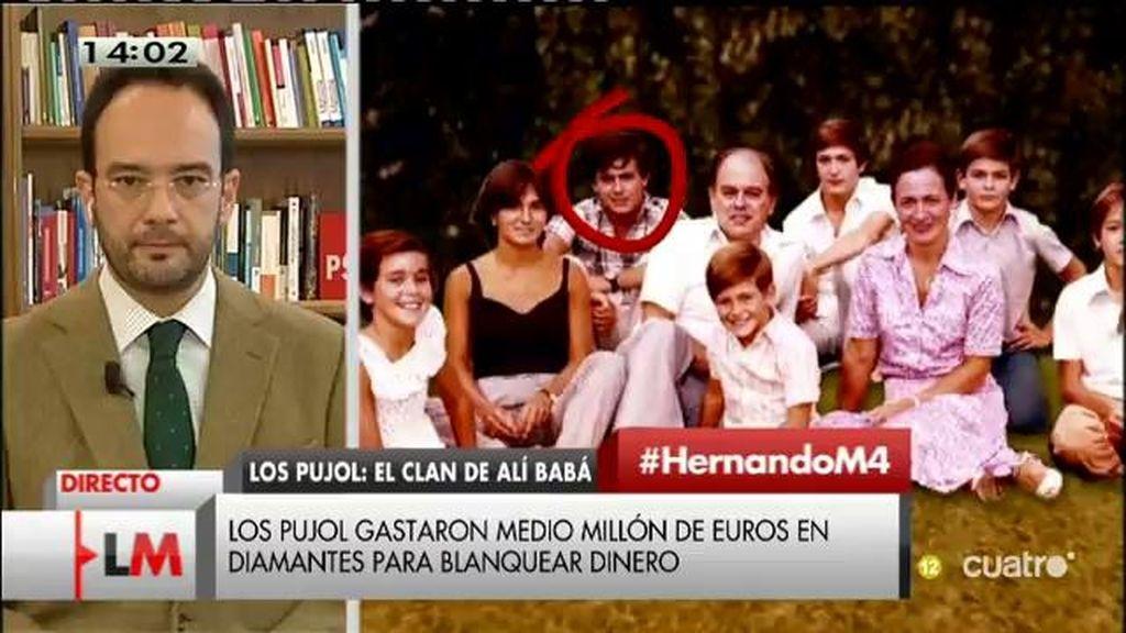 """Hernando: """"Este acelerón independentista quizá tenga algo que ver con el intento de encubrir esta trama de corrupción"""""""