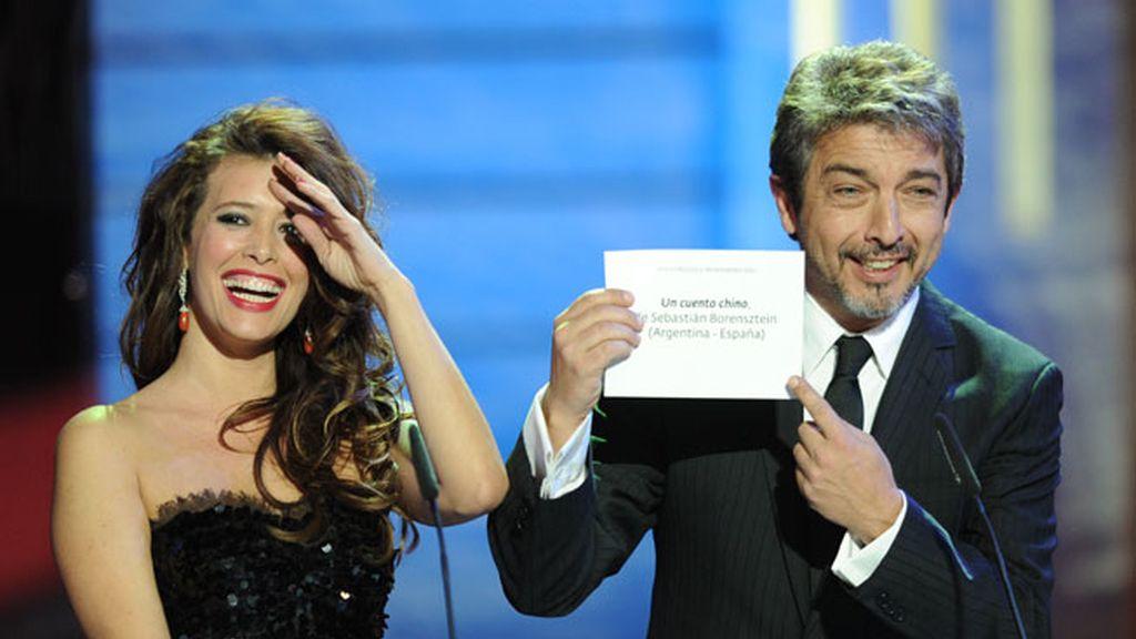 Ricardo Darín entrega un premio