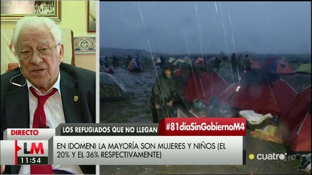 """Padre Ángel, sobre los refugiados: """"Creo que no tienen voluntad política, no sólo nuestro presidente sino toda Europa"""""""