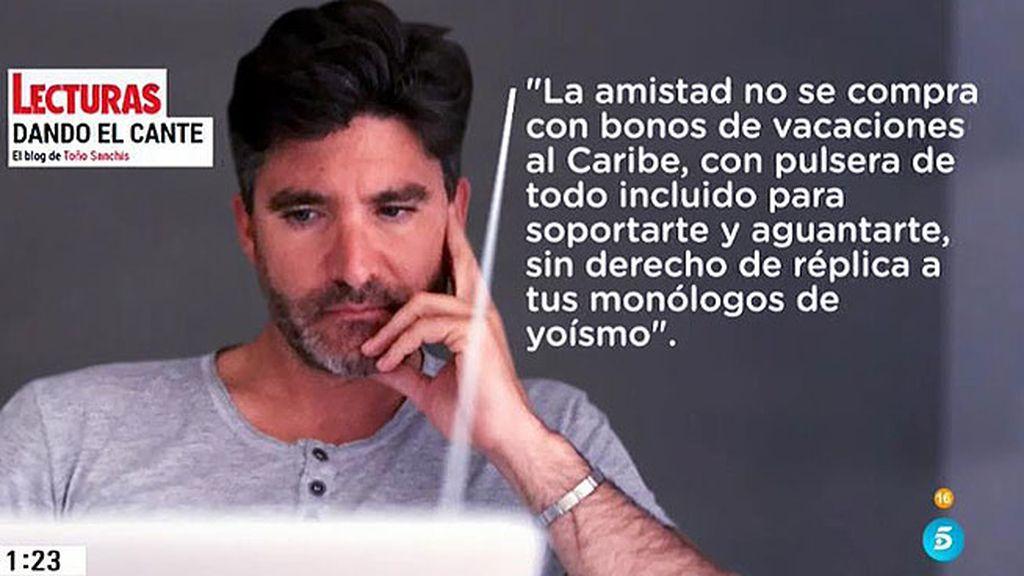 """Toño, a Belén: """"Bocachanclas, has puesto la demanda obligada por la pandilla merendilla"""""""