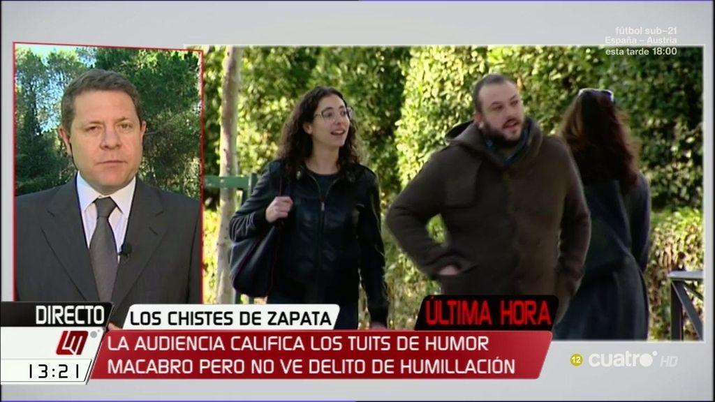 """Emiliano García-Page: """"Me creí desde el primer momento que el señor Zapata no tenía voluntad de ofender"""""""