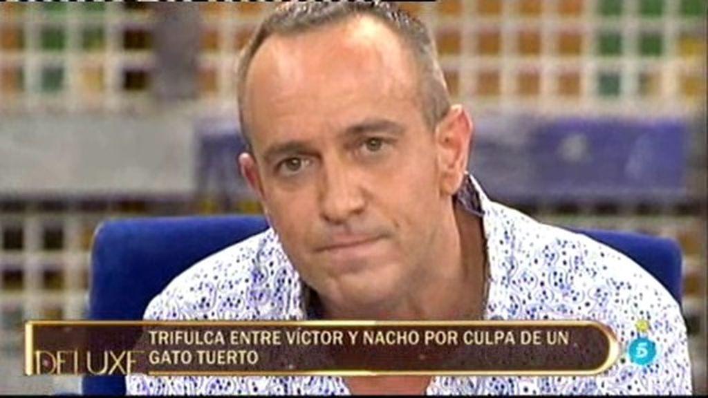 La trifulca entre Víctor Sandoval y Nacho Polo por... ¡un gato tuerto!
