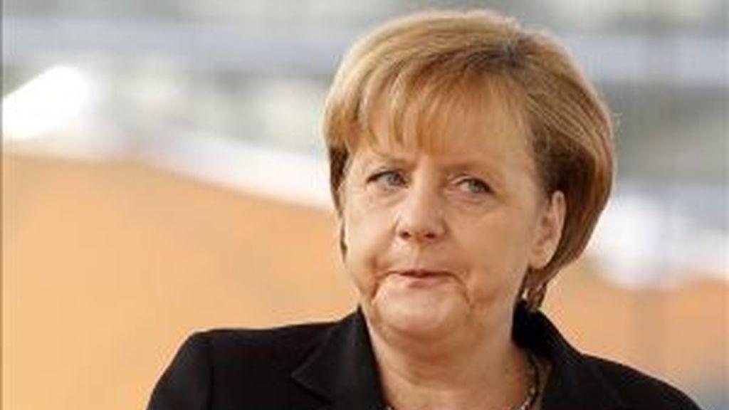 Palabras tranquilizadoras de Merkel. Vídeo: Informativos Telecinco.