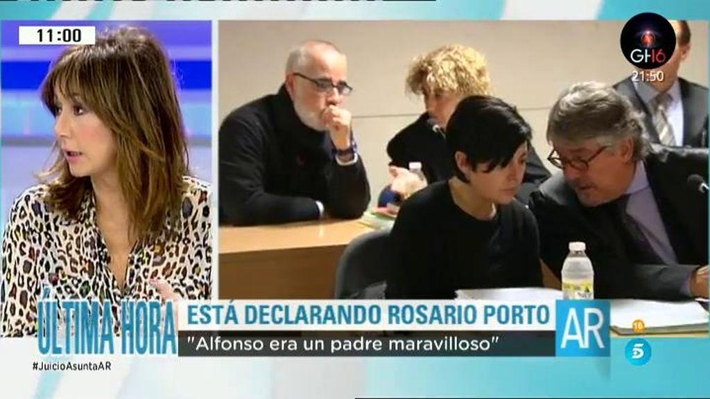"Rosario Porto empieza el interrogatorio: ""Alfonso era un padre maravilloso"""