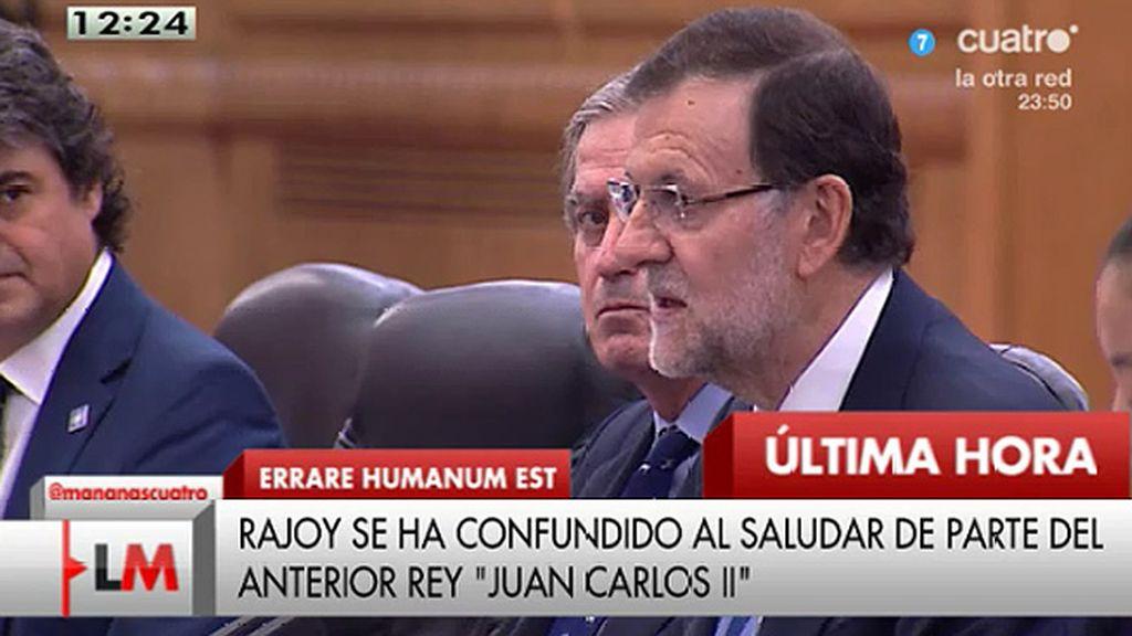 El lapsus de Mariano Rajoy