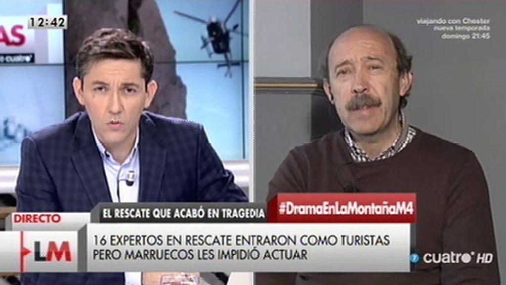 """José Enrique Sánchez, el accidente en Marruecos: """"No hemos hablado de invadir, hemos hablado de colaborar"""""""