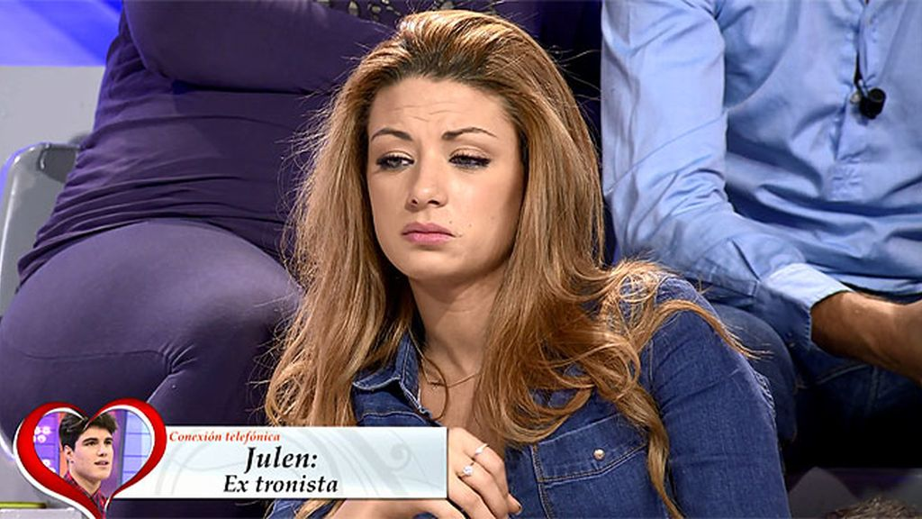 """Paula, a Julen: """"Te ha importado más lo que ha hecho Alba que yo"""""""