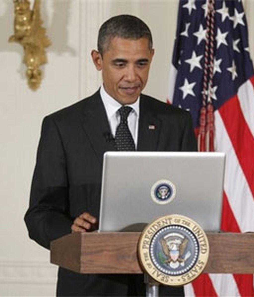 Obama ha constestado a las preguntas de los ciudadanos en Twitter. Foto: AP.