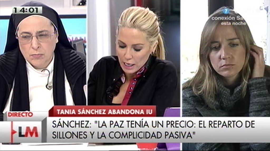 "T. Sánchez: ""Si tuviese algún miedo no abandonaría mi condición de aforada"""