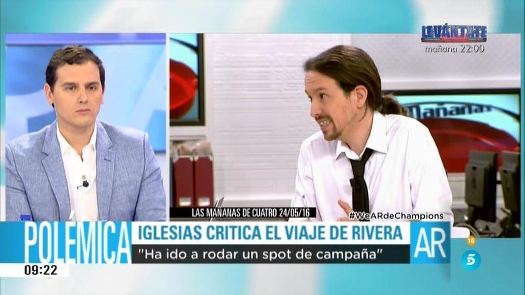 """Pablo Iglesias: """"Da la impresión de que ciudadanos va a gastar un poquito más de dinero en su spot de campaña"""""""