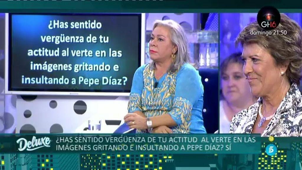 """Carmen Gahona: """"Sentí vergüenza al verme en las imágenes insultando a Pepe Díaz"""""""