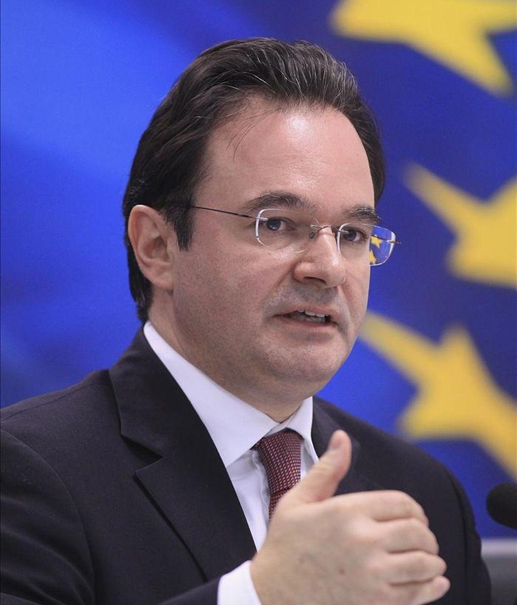 El ministro de Finanzas griego, Yorgos Papaconstantinou. EFE/Archivo