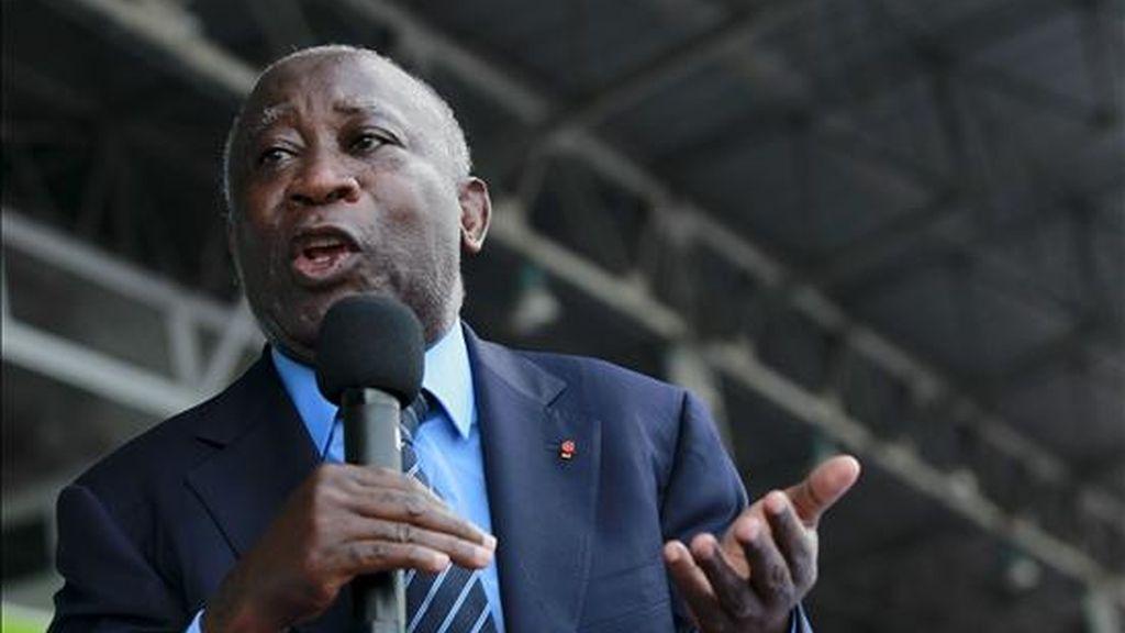 El presidente marfiliño saliente, Laurent Gbagbo. EFE/Archivo